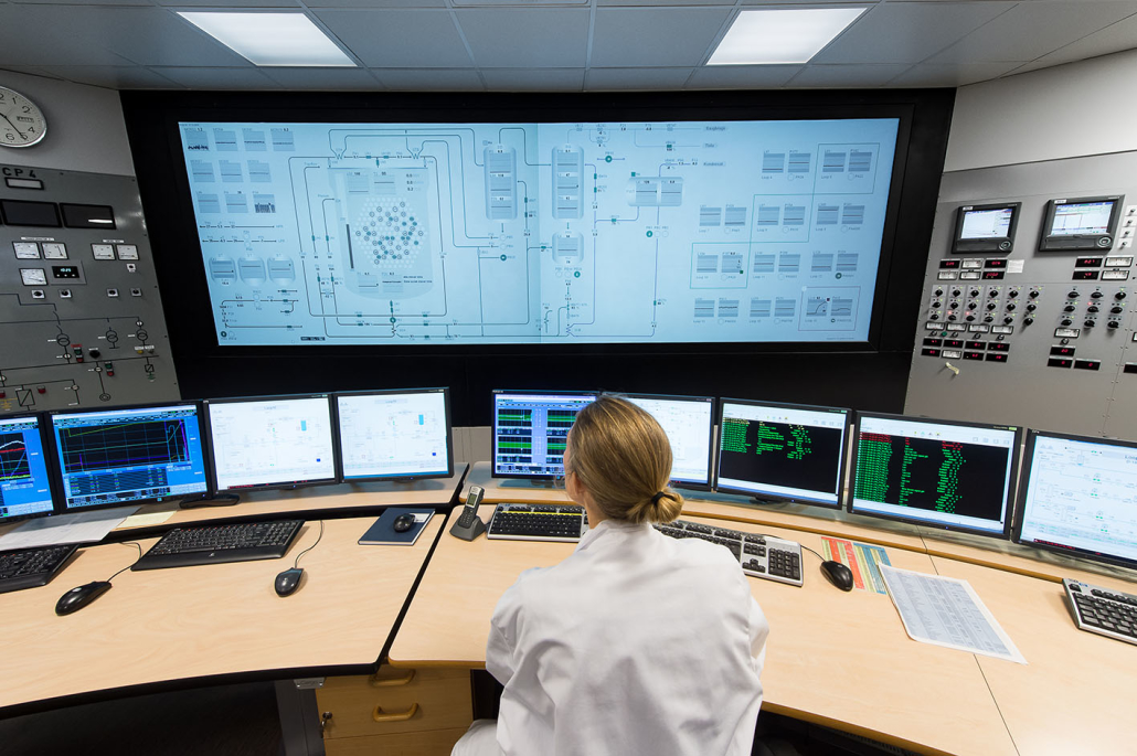 The control room at the IFE Halden research reactor (Photo: T. Tandberg)